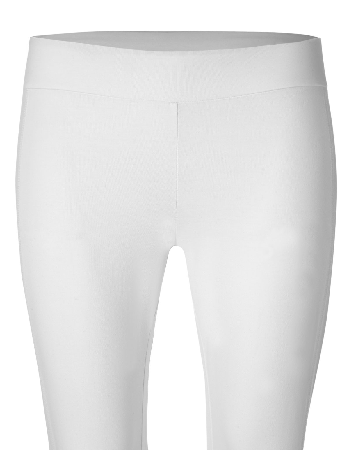 ddfab0467c0 ... White Cotton Capri Legging, White, hi-res ...