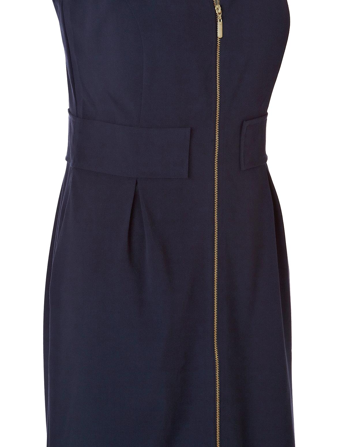 8d2931fd10dd ... Navy Zipper Front Shift Dress, Navy/Gold, hi-res ...