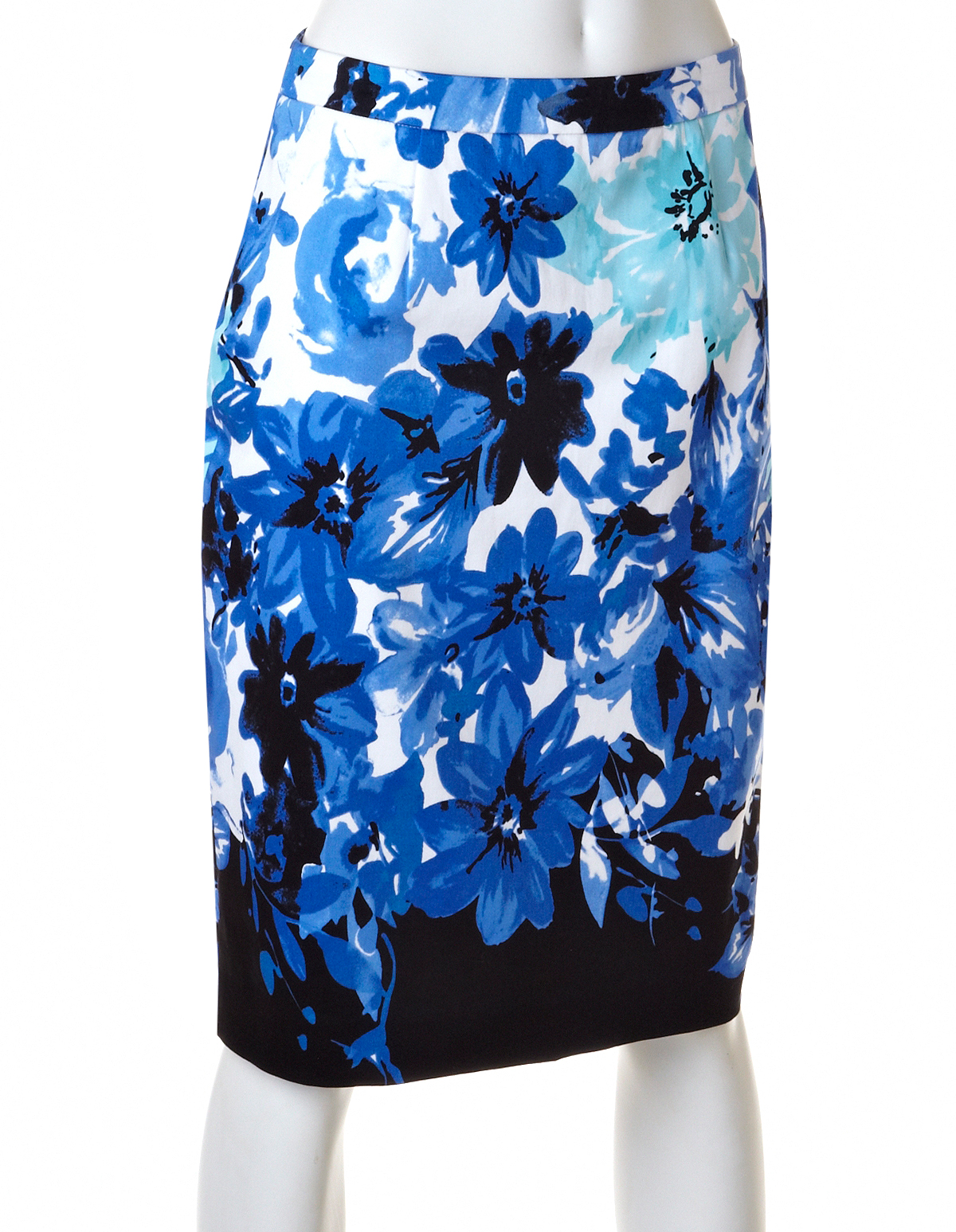 Blue Floral Pencil Skirt | Cleo
