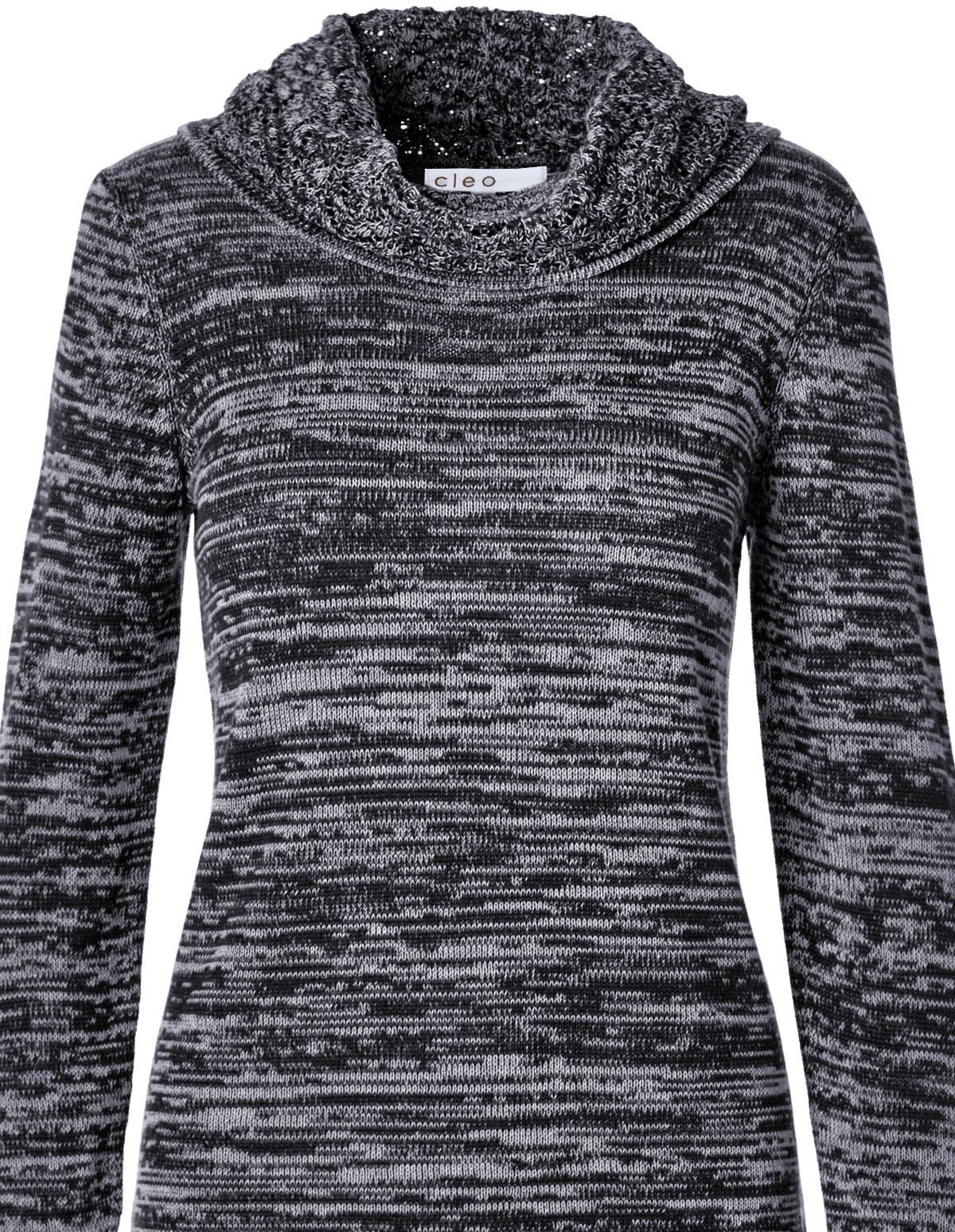Navy Crochet Hem Sweater | Cleo
