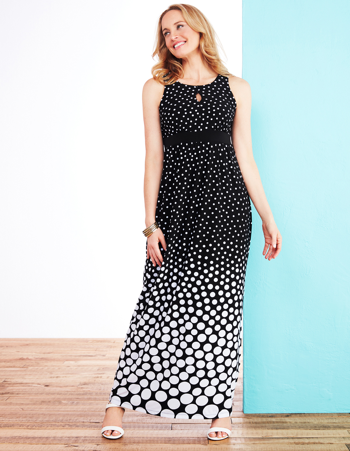0d3381c8f4 Polka Dot Print Maxi Dress