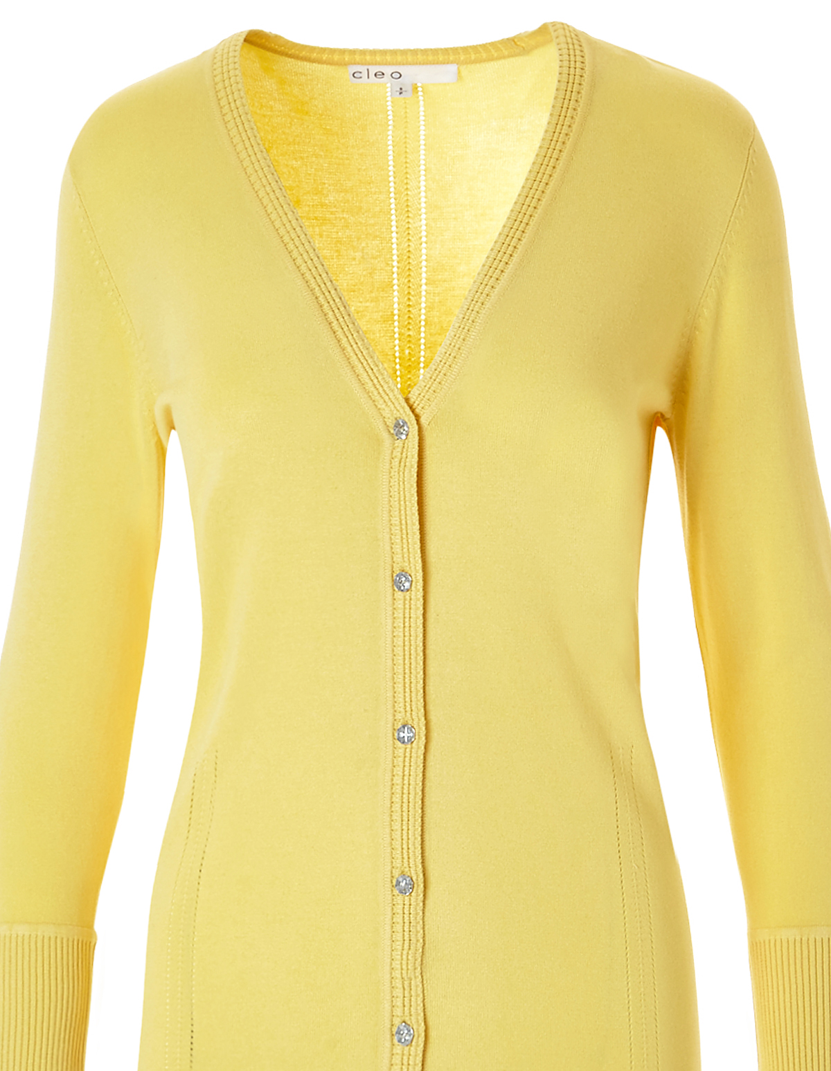 Yellow Cardigan Sweater | Cleo
