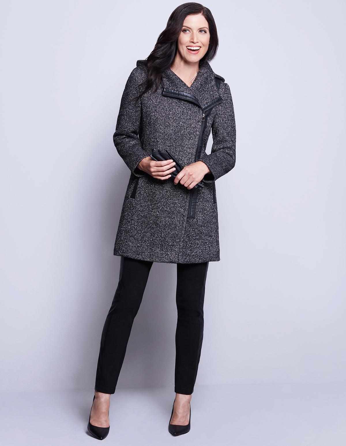 Asymmetrical Wool Coat | Cleo