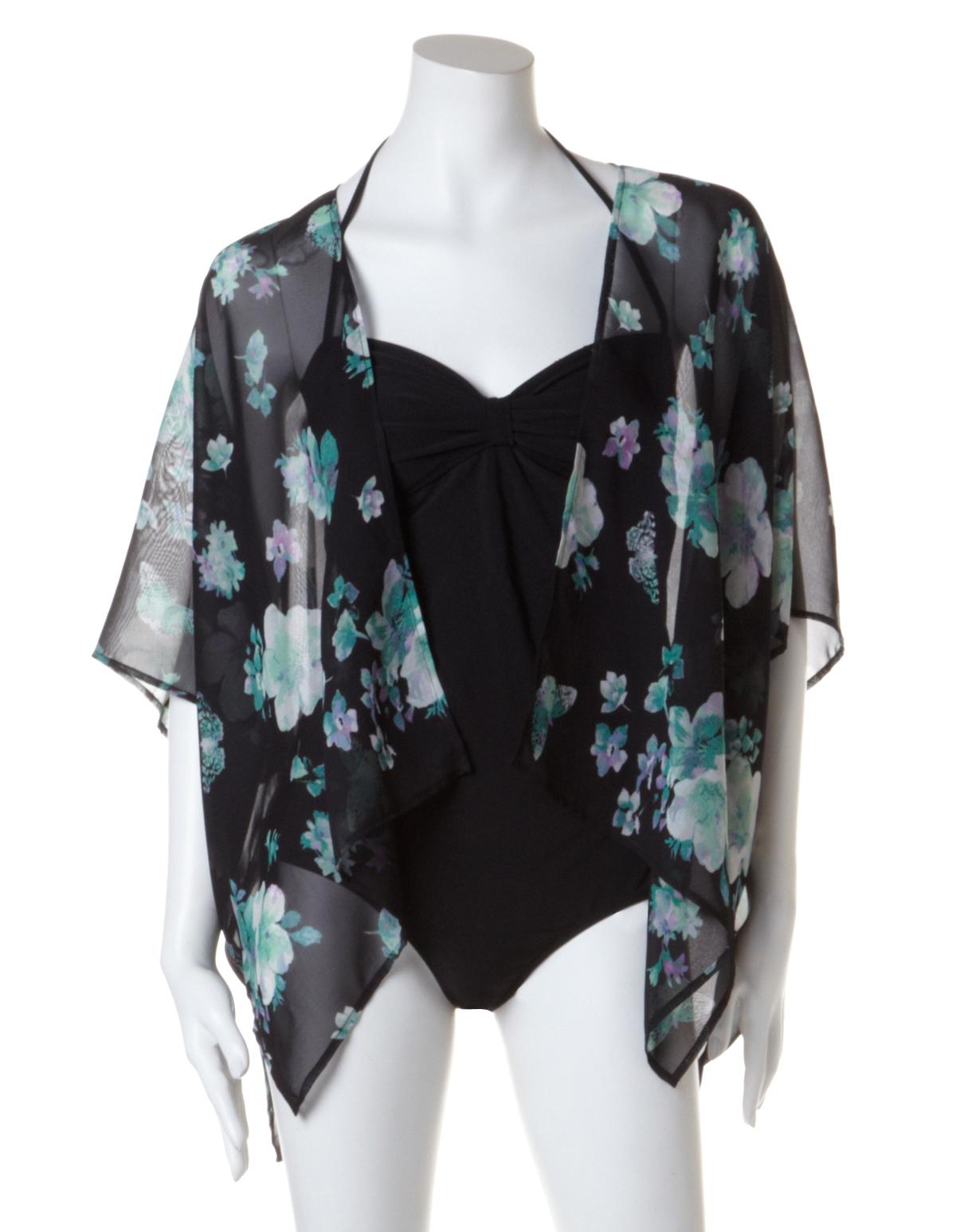 f6ea955f92b Floral Print Chiffon Kimono