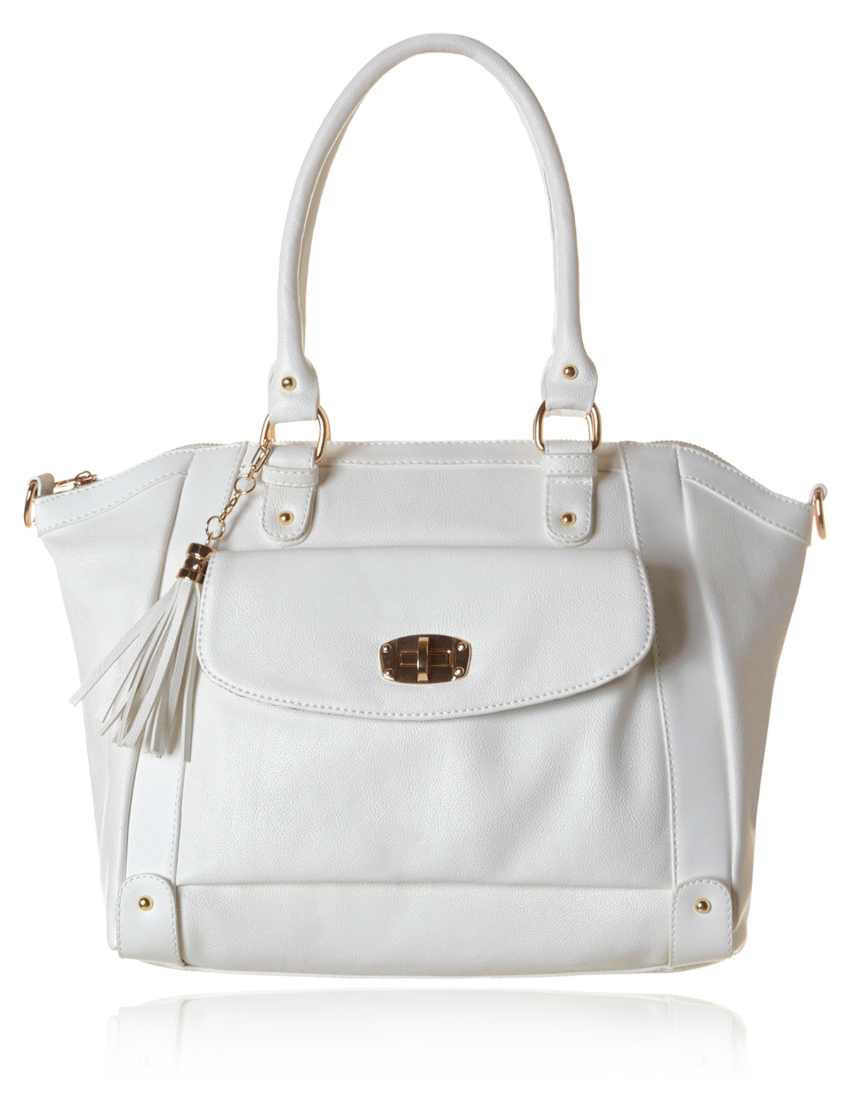 White Satchel Handbag | Cleo