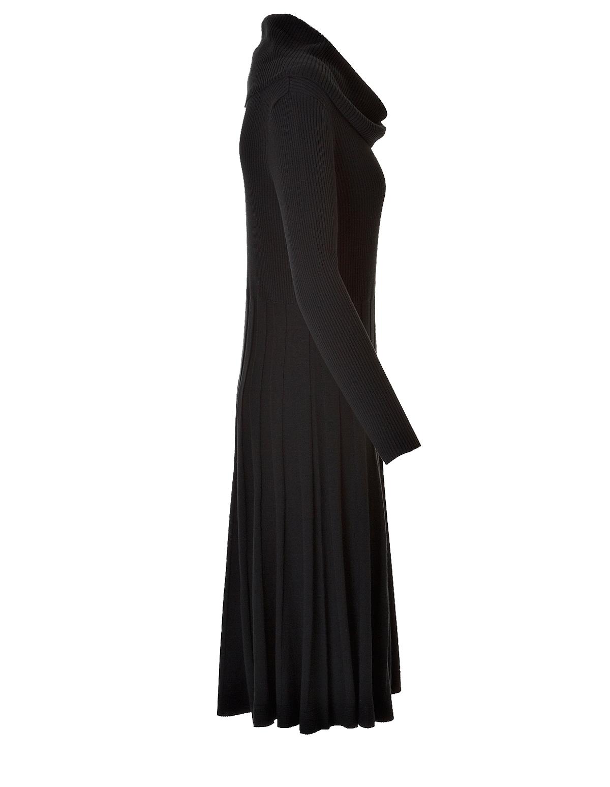 Black Cowl Neck Sweater Dress Cleo