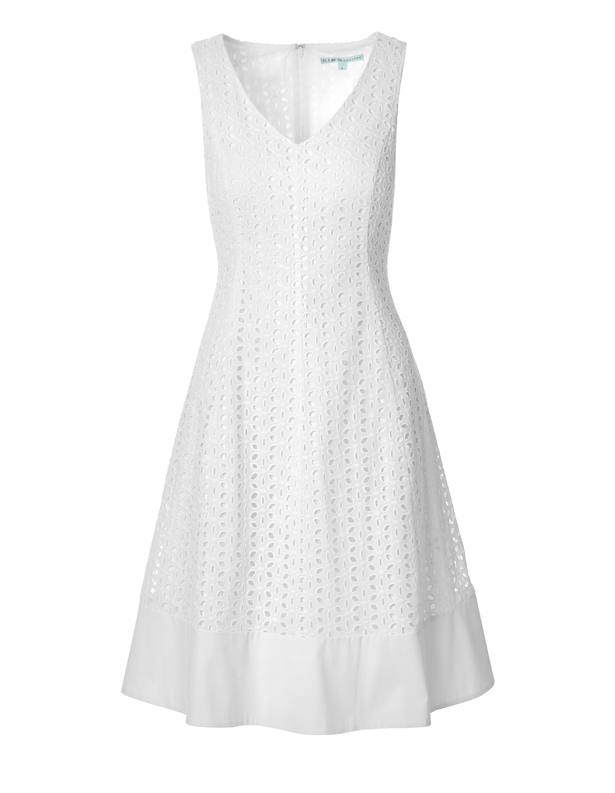 3a0372df6fb White Eyelet Fit and Flare Dress