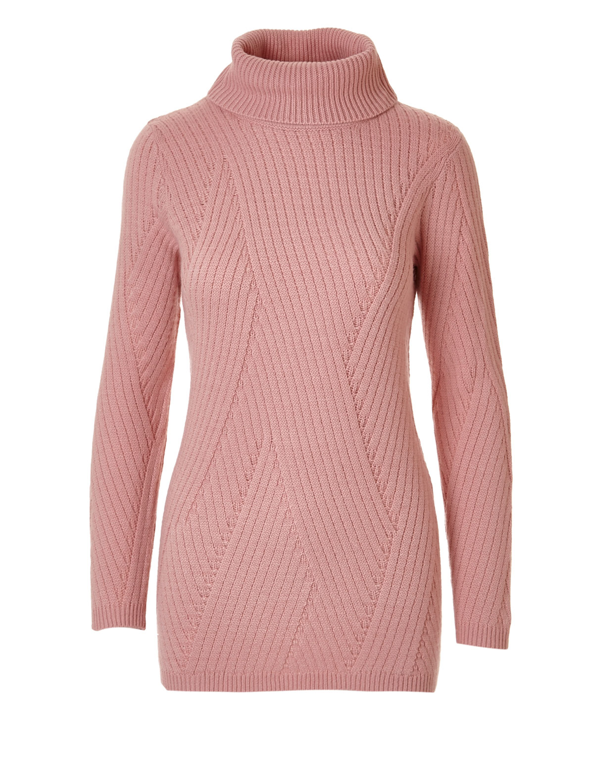 Pink Turtleneck Pullover Sweater | Cleo