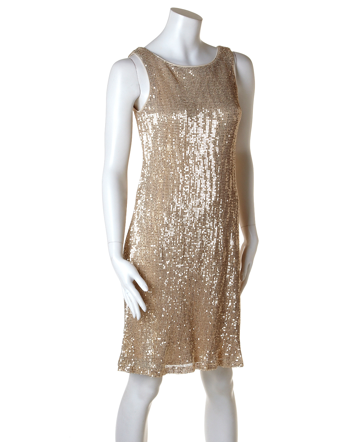 gold sequin shift dress  cleo