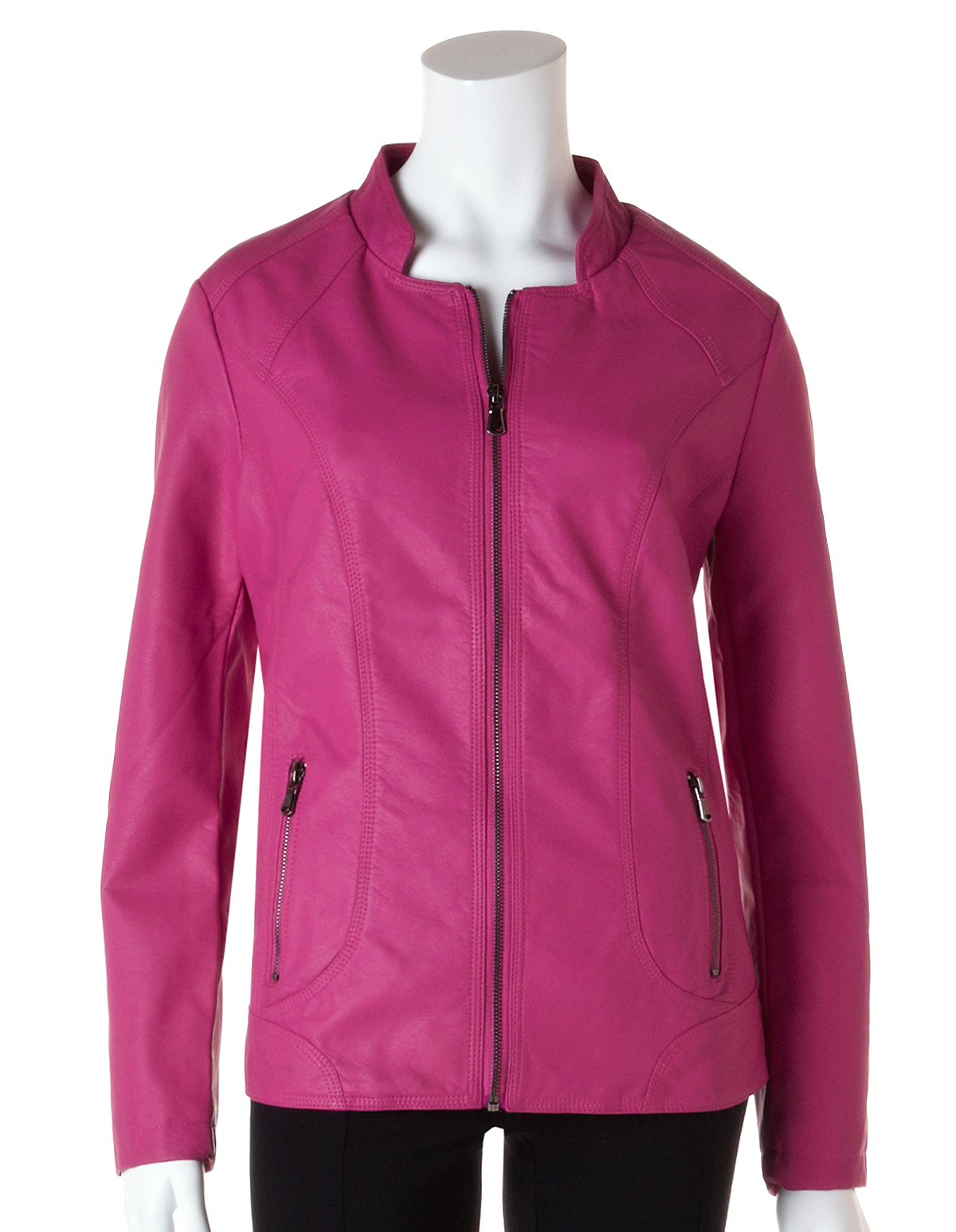 Hot Pink Pleather Jacket | Cleo