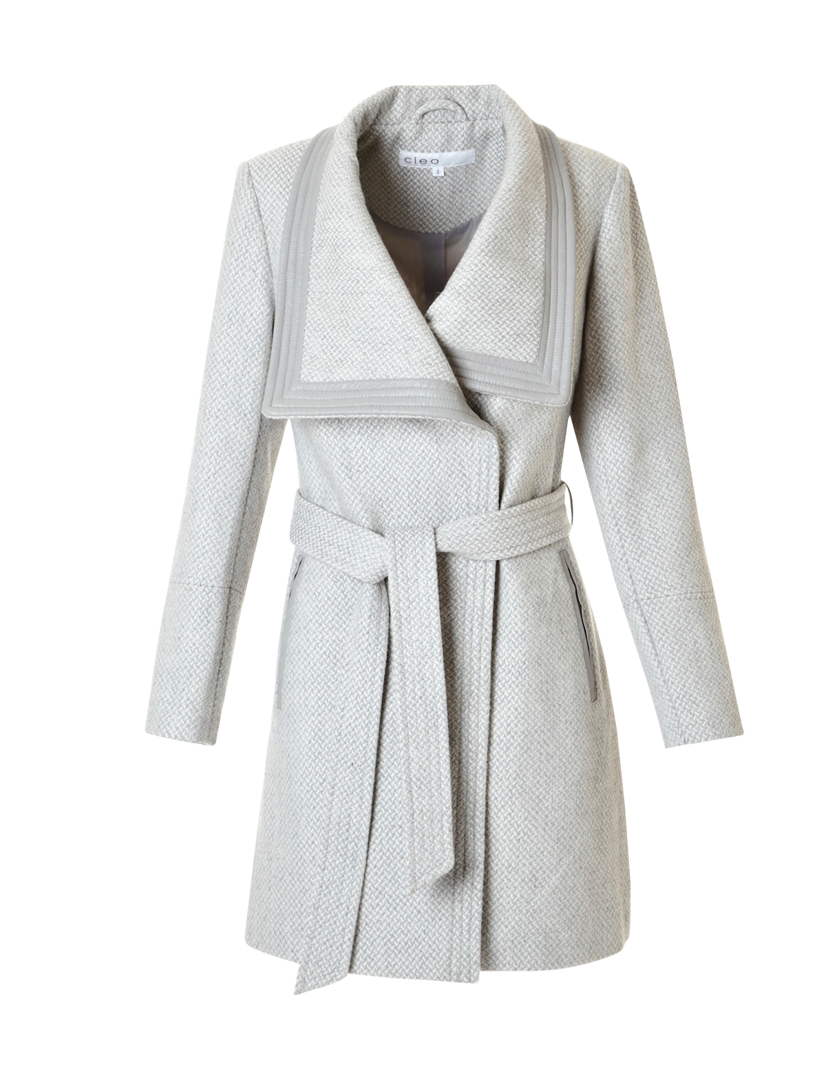 Light Grey Wool Blend Coat | Cleo