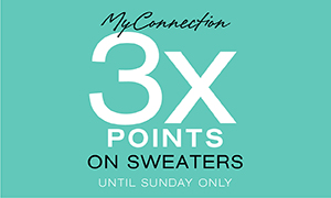 3x the my connection points on sweaters