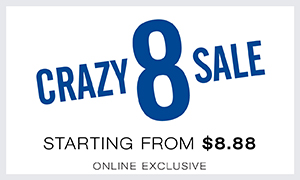 Crazy 8 sale, prices from $8.88, Online exclusive