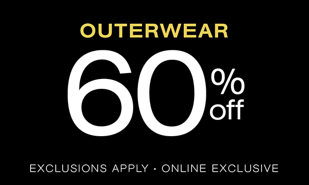 Outerwear 60% off