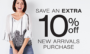 Extra 10% off New Arrivals