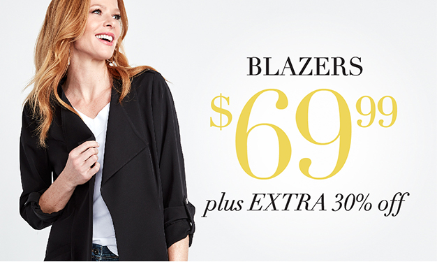 Blazers $69.99 plus 30% off