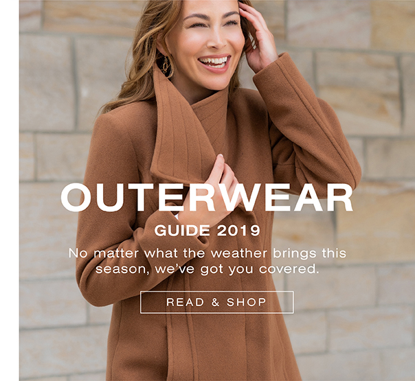 Outerwear guide 2019. No matter what the weather brings this season, we've got you covered. Read and shop.