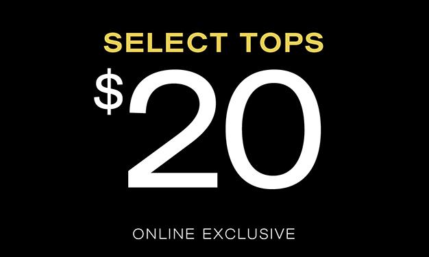 Select Tops $20