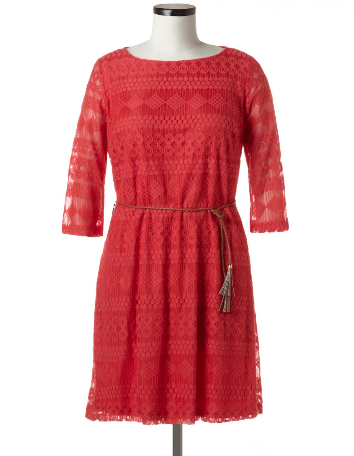 Coral Lace Dress Plus Size Images